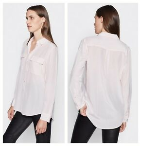 98fb832e67570 Image is loading Equipment-Womens-Silk-Champagne-Pink-Front-Pockets-Shirt-