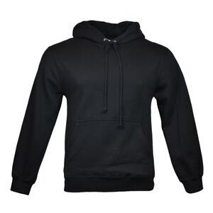 Men-039-s-Pullover-Hoodie-Sweatshirt-AAA-Alstyle-Apparel-Black-Size-S