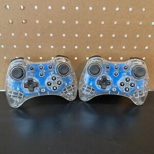 PDP-Afterglow-Pro-Wireless-Controller-For-Nintendo-Wii-U-Lot-Of-2-No-USB-Cable
