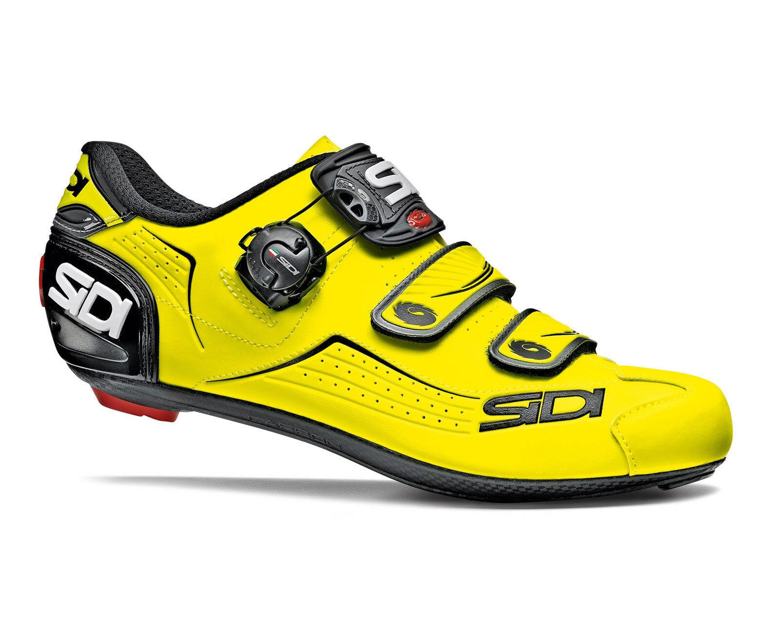 Sidi Alba road cycling zapatos-Amarillo Fluo Negro