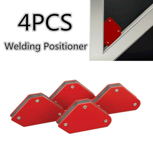 4* Red Welding Magnet Magnetic Square Welder Holder Arrow Clamp Steel Supplies