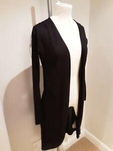 United Fashion Originals Linen Blend Black Cardigan Size 6 New Tagged