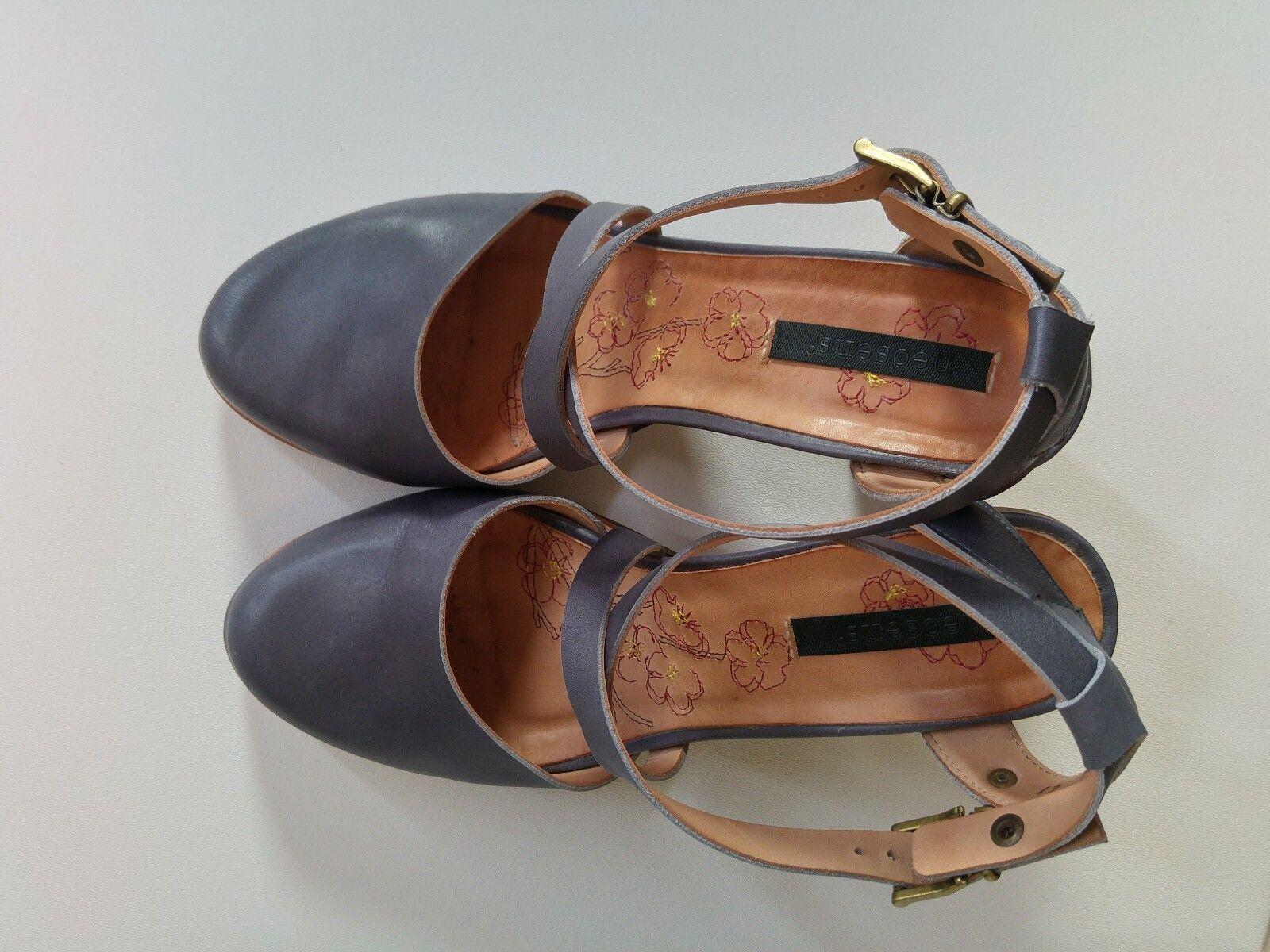Neosens Gloria Damen Knöchelriemchen Sandale blau grau Gr. 41 (40) neuwertig