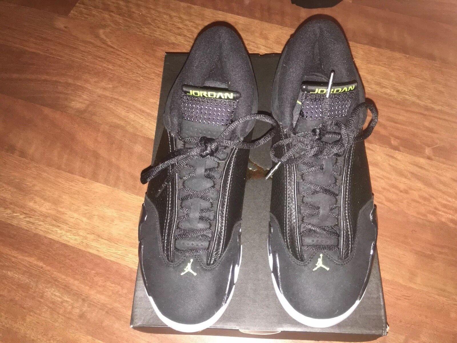 promo code ff8c2 9b21e Air Jordan 14 XIV Retro Size 9.5 9.5 9.5 Indiglo Black White Vivid Green  487471-005 e4f150