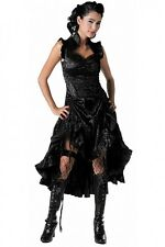 VELVET SILK BROCADE LACE GOTHIC BURLESQUE STEAMPUNK HITCH JAWBREAKER DRESS, S