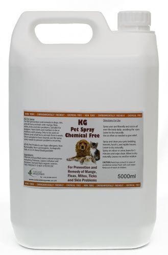 KG PET sp  trattamento per le pulci, acari, prurito pelle allergia problemi & 5000