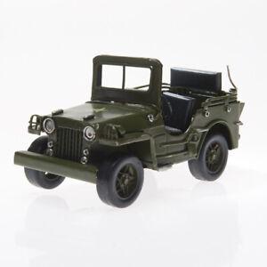 3d Militär Jeep Blechmodell Oldtimer Modell Auto Military Army Geländewagen Grün