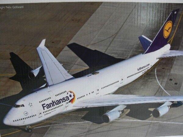 1/200 Herpa Wings LUFTHANSA Boeing 747-400 fanhansa 557313