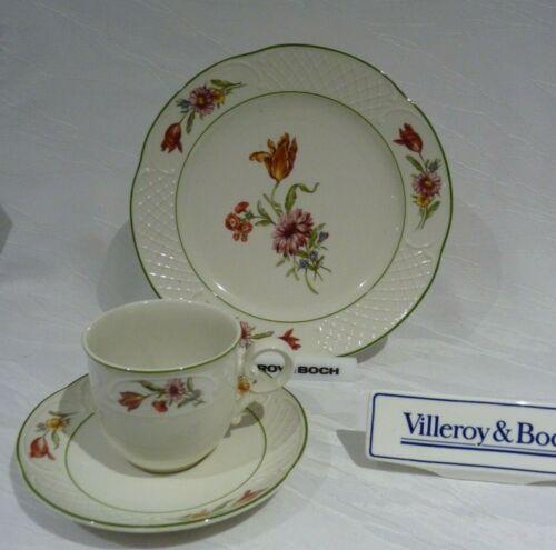 Villeroy /& Boch TULIPE Kaffeegedeck 3 teilig