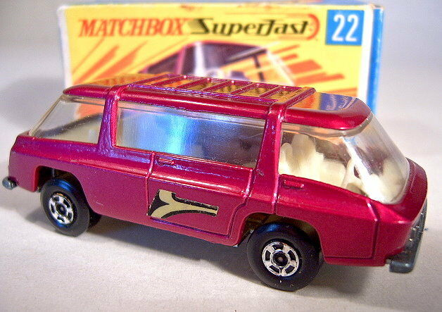 MATCHBOX SUPERFAST No.22B Freeman Intercity Metallic violetc Body Boxed