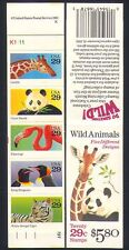 USA 1992 PANDA/Tiger/pinguino/Giraffe/Flamingo/Animali/natura/bird 20v bklt b473a
