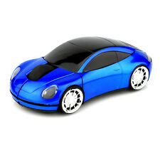 2.4GHz Wireless 3D 1600DPI Porsche Car Shape Usb Optical Mouse Mice BLUE UK SHIP