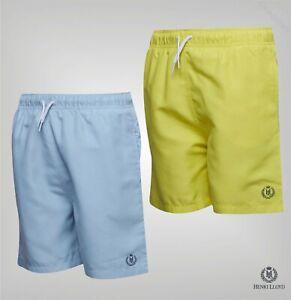 Garcons-Henri-Lloyd-Logo-Maille-Double-Shorts-De-Bain-Tailles-Age-De-7-To-15-ans