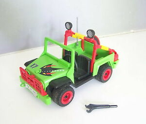 playmobil z189 mer voiture 4x4 jeep verte hors bord de course 3041 ebay. Black Bedroom Furniture Sets. Home Design Ideas