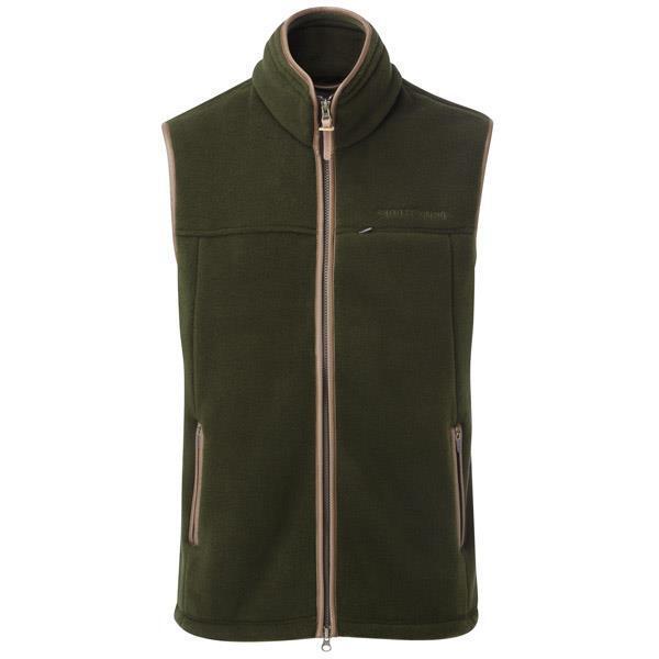 ShooterKing Polartec Vest Forest Fleece Gilet Waistcoat Green Hunting Shooting