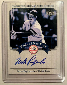 MIKE-PAGLIARULO-03-UPPER-DECK-NY-YANKEES-AUTOGRAPHED-SIGNATURE-SERIES-CARD-PN-MP