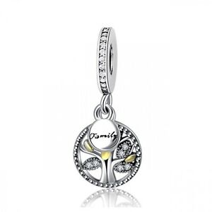 925-Sterling-Silver-Charm-Bead-Family-Heritage-Pendant-Charms-Tree-Of-Life-DIY