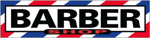 b02 24x6 Inch BARBER SHOP Sticker Sign Store Window Decal