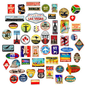 ... Bagages-autocollants-Valise-Patches-Vintage-Voyage-Etiquettes-Style- 2a6cc4a3b13