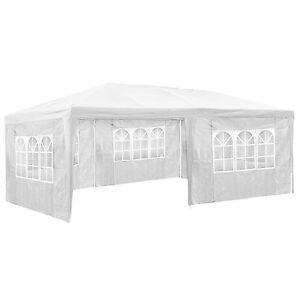 Tonnelle de jardin barnum auvent chapiteau tente pavillon de jardin 3x6 m blanc