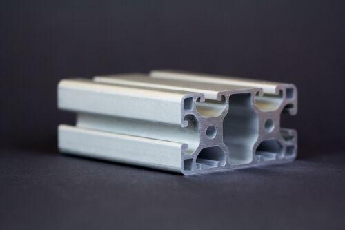 1 m Alu Profil Aluprofile 40x80L 2N Nut 8 item-kompatibel Aluminiumprofil Bau...