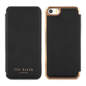 OFFICIAL-TED-BAKER-SS16-SHAEN-Black-Rose-Gold-Folio-Case-for-iPhone-5S-5