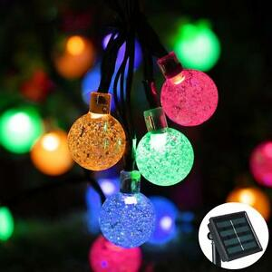Image Is Loading 20LED Bulbs Solar Powered String Lights Outdoor Garden