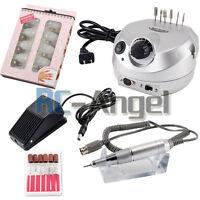Professional Electric Nail File Drill Manicure Acrylic Pedicure Machine Bits Kit