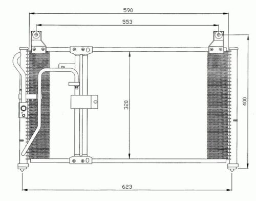 Klimakühler Kondensator Klimaanlage Kia Clarus 1996