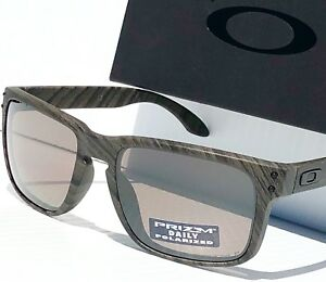 097acad2183 NEW  Oakley HOLBROOK Woodgrain w POLARIZED Grey PRIZM DAILY Sunglass ...