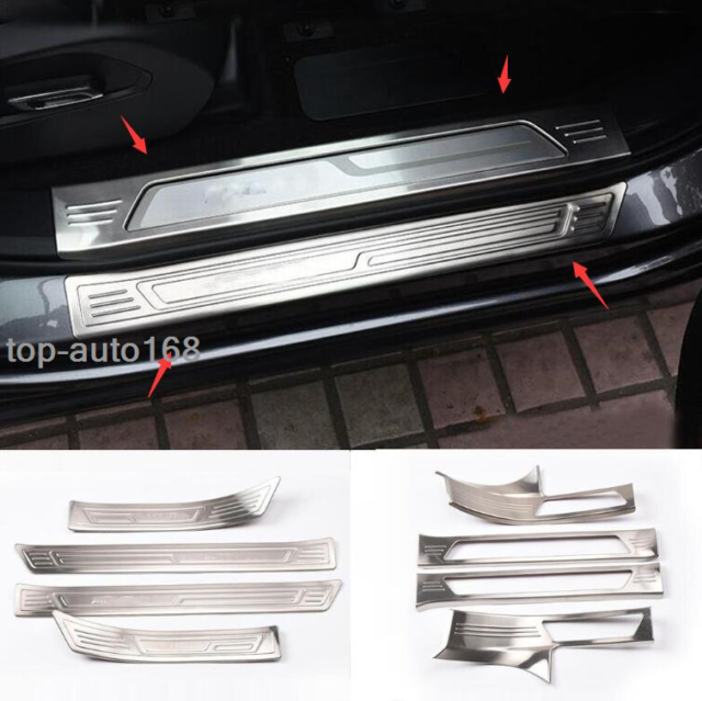 Stainless Steel Side Door Welcome Pedal Cover Kit Trim