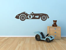 VINTAGE RACE CAR Wall Decal Boys Childs Room Vinyl Sticker Mural Home Decor