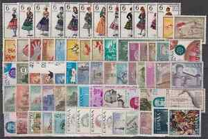 SPAIN-ANO-1967-COMPLETO-NUEVO-SIN-FIJASELLOS-MNH-ESPANA-CON-TRAJES