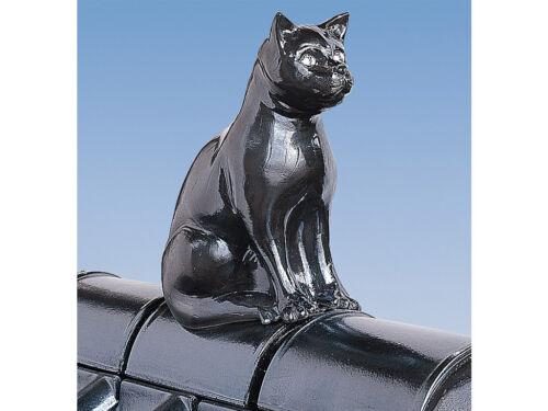 Purr Dachschmuck Dachfigur Firstschmuck Firstfigur Katze 40 cm schwarz glasiert
