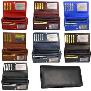 94defe9aa1836 Das Bild wird geladen XXL-Damen-Geldboerse-mit-RFID-Schutz-Rindleder- Portemonnaie-