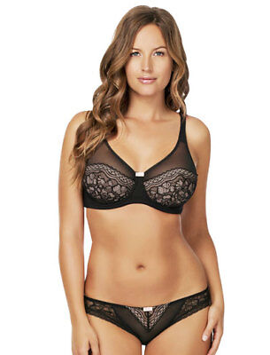 Parfait by Affinitas Kitty Wire Non-Padded Bra 2102 UK Sz D-G Black// Red Dotted