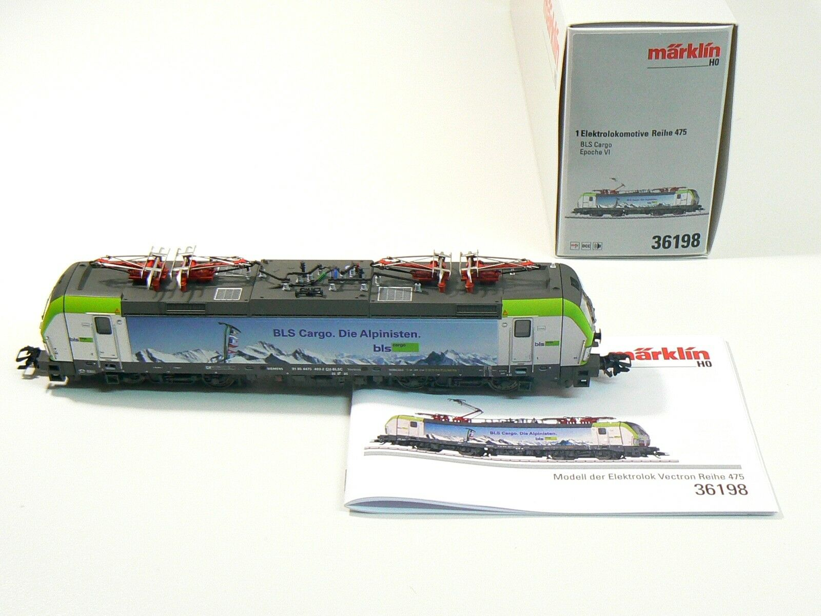 h0 36198, E-Lok serie 475, BLS  la ALPINISTEN  MFX, audio, NUOVO