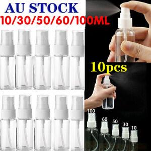 10Pcs-Empty-Refillable-Plastic-Pump-Spray-Bottles-Travel-Perfume-Atomiser-Tools