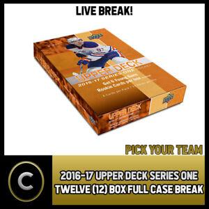 2016-17 UPPER DECK SERIES 1-12 BOX FULL CASE BREAK #H301 PICK YOUR TEAM