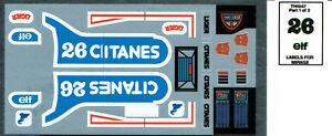 G1 AUTOBOT SMOKESCREEN REPRO LABELS TRANSFORMERS GENERATION 1