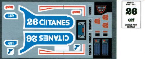 Transformers génération 1 G1 Autobot pièces Mirage repro Labels