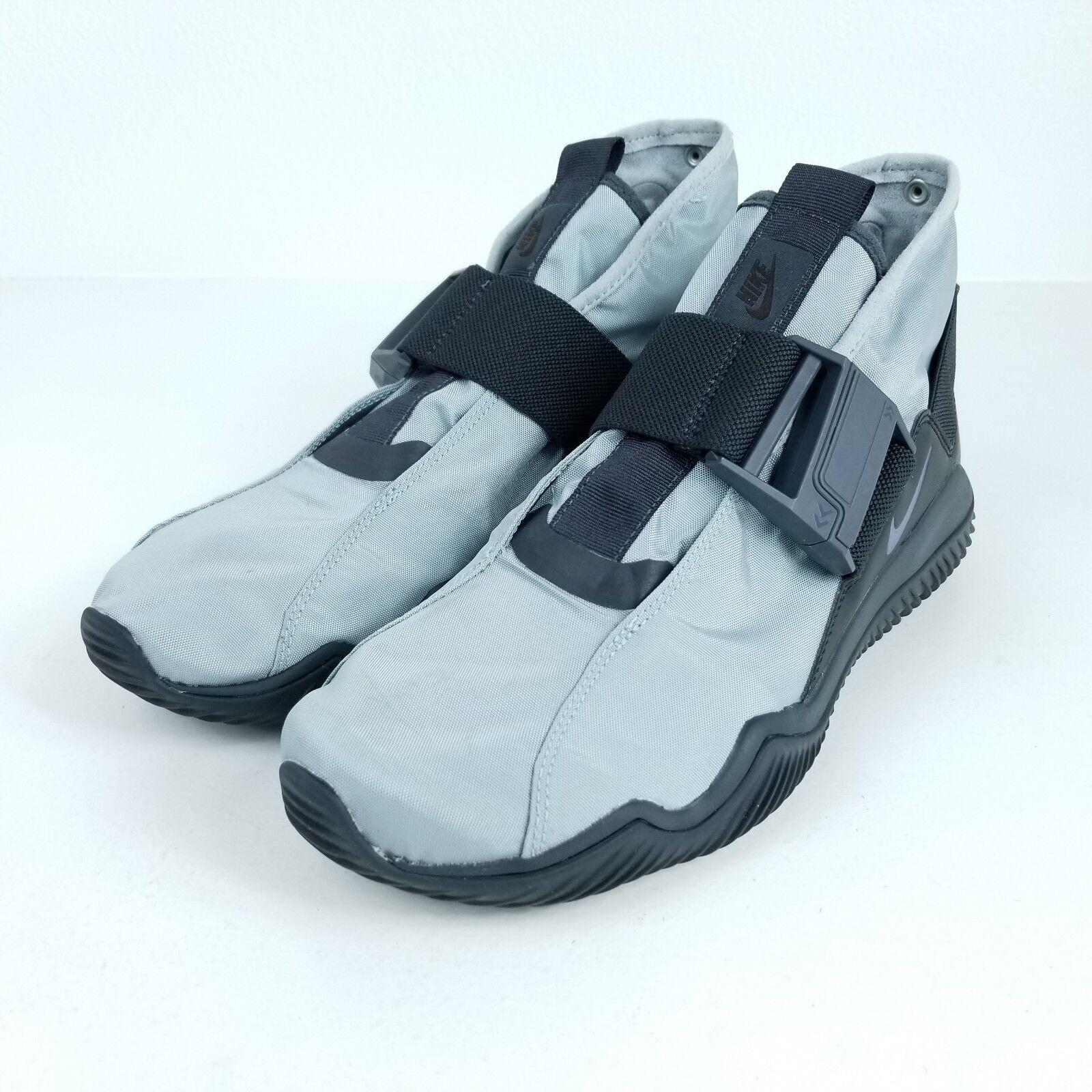 NIKE KomYuter Mens Size 8.5 9 Shoes Pumice Gray Thunder Blue AA2211 002
