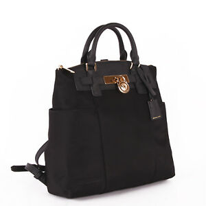 430fdb2efe6775 ... shopping image is loading nwt michael kors hamilton nylon large  convertible backpack 0766f a5ee0 ...