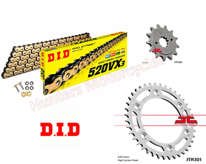 Honda CRF250L DID Gold X-Ring Chain /& JT Sprockets Kit Set 2013 to 2018 LA