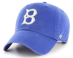 BROOKLYN-DODGERS-MLB-ROYAL-STRAPBACK-RELAXED-039-47-BRAND-CLEAN-UP-DAD-HAT-CAP-NEW