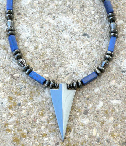 Magnética hematita Flecha Colgante Collar Lapis para hombres Para mujeres de curación de curación