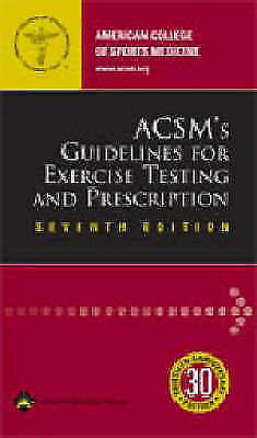 ACSM's Guidelines for Exercise Testing and Prescription by ACSM Paperback Book