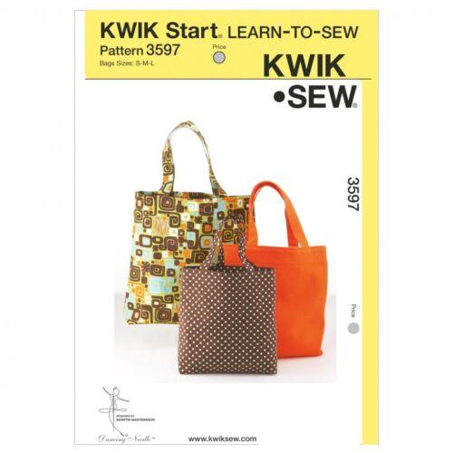 Gratis Reino Unido P/&p Kwik Sew Accesorios fácil aprender a coser patrón de costura 3597...