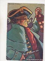 Dudley Ward Ye Highwayman 1910 Comic Postcard 461b