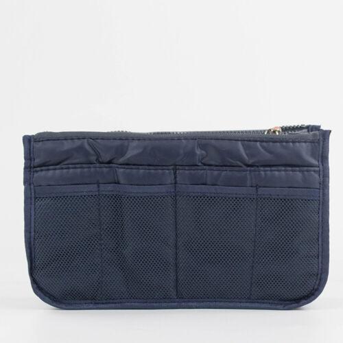 Travel Insert Handbag Organizer Purse Large Liner Tidy Zip Storage Bag Portable